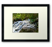 Jones River Waterfall, Wilderness Tasmania Framed Print
