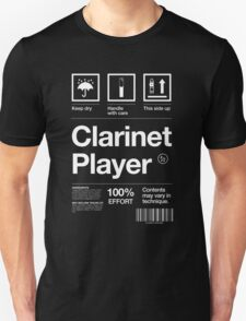 """Clarinet Player"" Label Unisex T-Shirt"