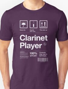 """Clarinet Player"" Label T-Shirt"