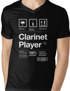 """Clarinet Player"" Label Mens V-Neck T-Shirt"