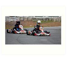 Kart Racing Art Print