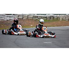 Kart Racing Photographic Print
