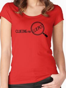 CLUEING FOR LOOKS /on light colours/ Women's Fitted Scoop T-Shirt