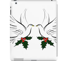 Doves and Holly iPad Case/Skin