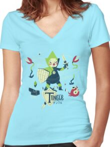 the legend of tingle: the magic words of time Women's Fitted V-Neck T-Shirt