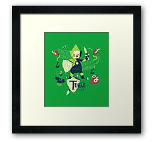 the legend of tingle: the magic words of time Framed Print