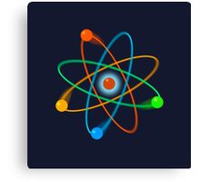 Dynamic Atomic Structure Canvas Print