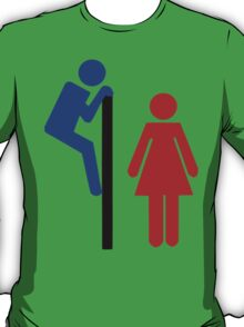 Toilet Door Funny T-Shirt
