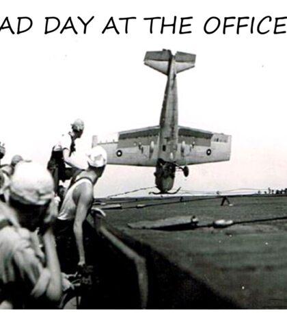 Bad day at the office?   World War 2 Aircraft crash  Sticker