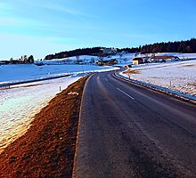 Country road through winter wonderland III | landscape photography by Patrick Jobst