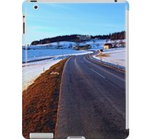 Country road through winter wonderland III | landscape photography iPad Case/Skin