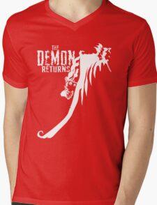 The Demon Returns (White) Mens V-Neck T-Shirt