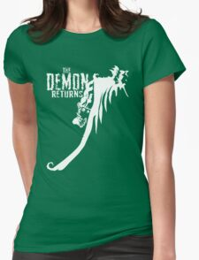 The Demon Returns (White) Womens Fitted T-Shirt