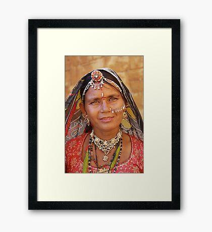 Rajasthani Beauty Framed Print