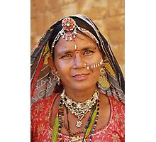 Rajasthani Beauty Photographic Print