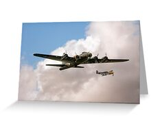 Flying Fortress and Mustang Greeting Card