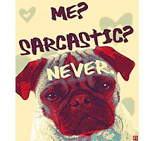 Pug Sarcasm Photographic Print