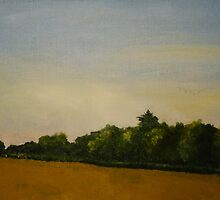 Corn Field with Trees  by George Burrows
