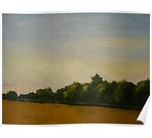 Corn Field with Trees  Poster