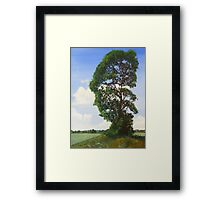 Landscape with Tree Framed Print