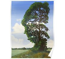 Landscape with Tree Poster