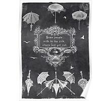 wet rain Poster