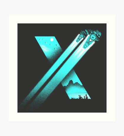 XENO CROSS Art Print