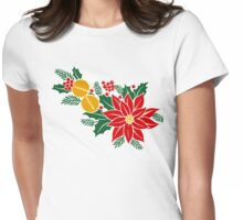 Christmas Garland Womens Fitted T-Shirt