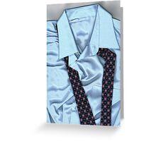 Saturday Morning - Men's Fashion Art By Sharon Cummings  Greeting Card