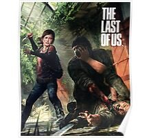 ellie and joel, the last of us Poster