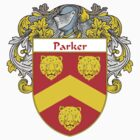 Parker Coat of Arms / Parker Family Crest by William Martin