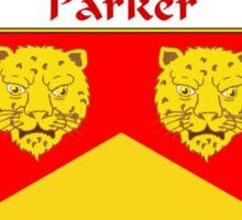 Parker Coat of Arms / Parker Family Crest Sticker