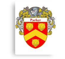 Parker Coat of Arms / Parker Family Crest Canvas Print