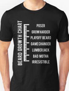 Beard Growth Chart Unisex T-Shirt