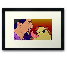 Jesus Loves Miss Pacman Framed Print