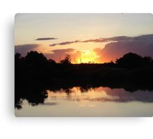 """""""Oster Sunset"""" by Carter L. Shepard Canvas Print"""