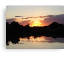 """Oster Sunset"" by Carter L. Shepard Canvas Print"
