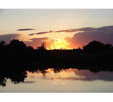 """Oster Sunset"" by Carter L. Shepard Photographic Print"