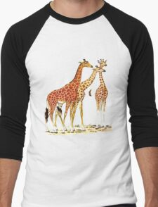 Giraffe Family Men's Baseball ¾ T-Shirt