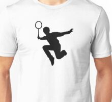 Badminton player Unisex T-Shirt