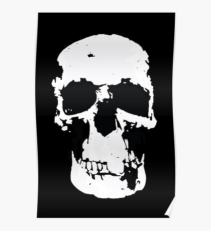 Sherlock Skull Wall Hanging On Black Poster
