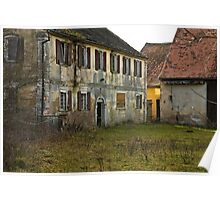 Derelict Water Mill, Höchstadt, Germany. Poster