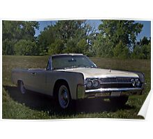 1963 Lincoln Continental 4 Door Convertible Poster