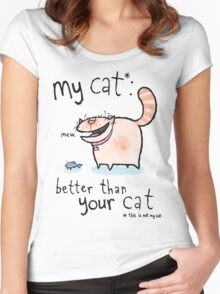My cat Women's Fitted Scoop T-Shirt