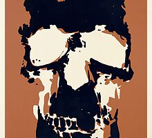 Sherlock Skull Wall Hanging Invert by Mark Walker