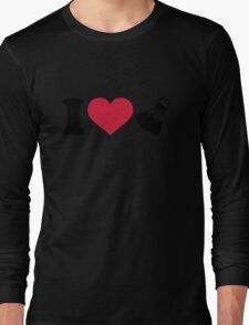I love Badminton shuttlecock Long Sleeve T-Shirt
