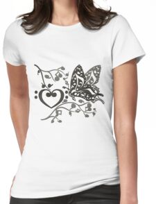 Butterfly_Notes Womens Fitted T-Shirt