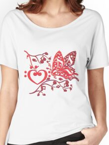 Butterfly_Notes Women's Relaxed Fit T-Shirt