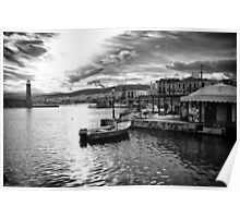 The Old Venetian Port of Rethymno in Crete Poster