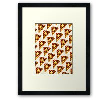 Pizza Pattern Framed Print